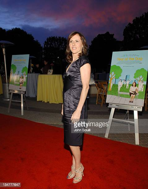 Molly Shannon during 'Year of the Dog' Los Angeles Premiere Red Carpet at The Paramount Pictures Theater in Los Angeles California United States