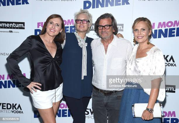 Molly Shannon Nancy Jarecki Griffin Dunne and Naomi Scott attends the screening Of 'Fun Mom Dinner' at Landmark Sunshine Cinema on August 1 2017 in...
