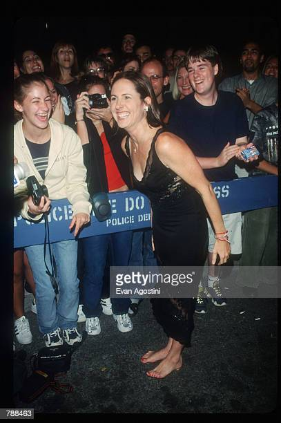 Molly Shannon poses for a photograph September 26 1999 at NBC Studios in New York City She is there to celebrate the 25th anniversary of the hit...