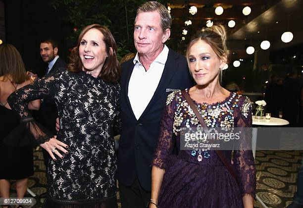 Molly Shannon Thomas Haden Church and Sarah Jessica Parker attend the 'Divorce' New York Premiere at SVA Theater on October 4 2016 in New York City