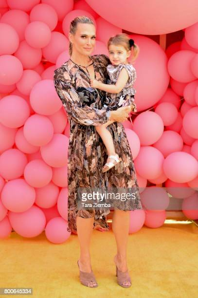 Molly Sims and her daughter Scarlett May attend the Premiere Of Universal Pictures And Illumination Entertainment's 'Despicable Me 3' at The Shrine...
