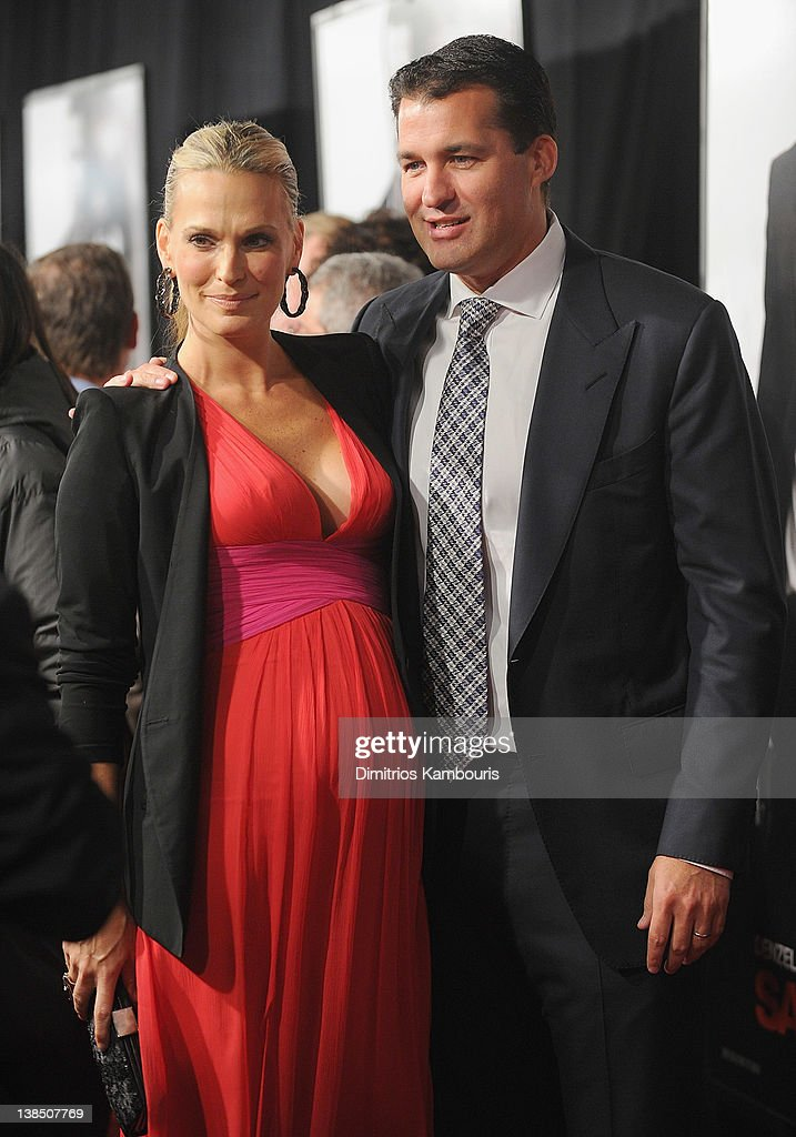Molly Sims and producer Scott Stuber attend the 'Safe House' premiere at the SVA Theater on February 7 2012 in New York City