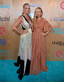 Molly Sims and Rachel Zoe attends 'QVC Presents Super Saturday LIVE' on the Red Carpet at Barker Hangar on June 11 2016 in Santa Monica California