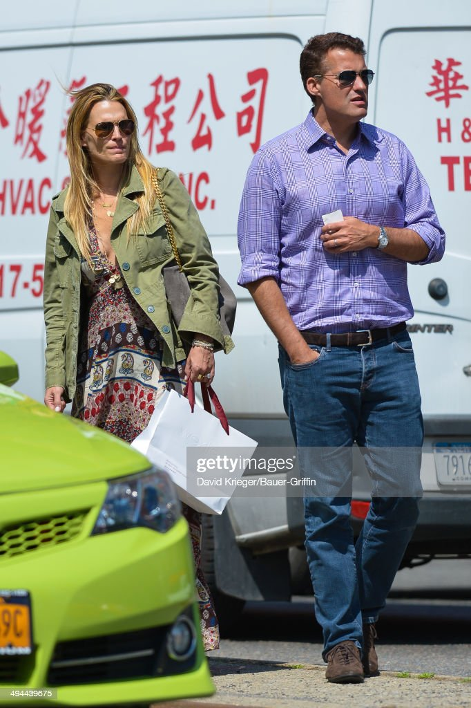 Molly Sims and Scott Stuber are seen on May 29 2014 in New York City