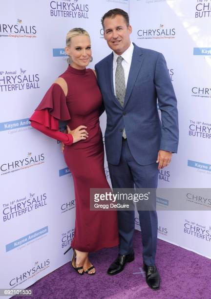 Molly Sims and Scott Stuber arrive at the 16th Annual Chrysalis Butterfly Ball at a private residence on June 3 2017 in Brentwood California