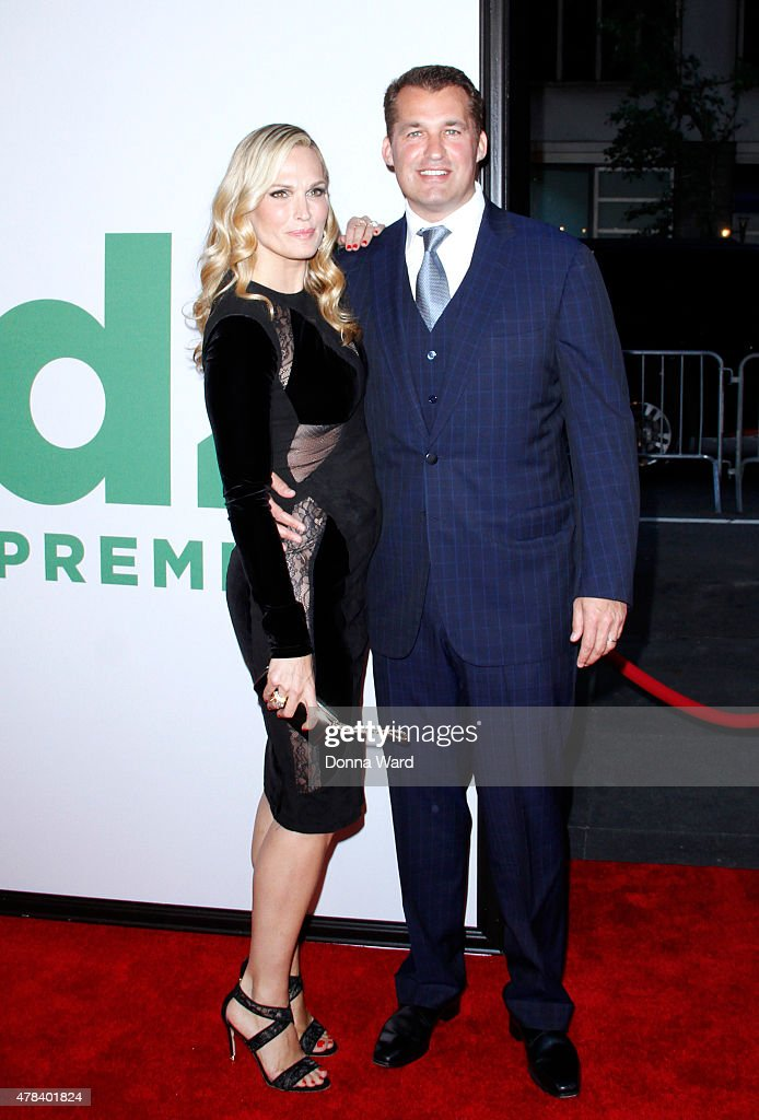 Molly Sims and Scott Stuber attend the 'Ted 2' world premiere at Ziegfeld Theater on June 24 2015 in New York City