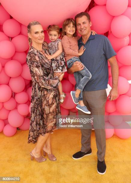 Molly Sims and Scott Stuber bring their kids to the Premiere Of Universal Pictures And Illumination Entertainment's 'Despicable Me 3' at The Shrine...
