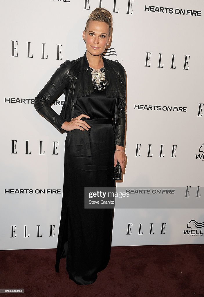 Molly Sims arrives at the ELLE's 2nd Annual Women In Television Celebratory Dinner at Soho House on January 24, 2013 in West Hollywood, California.