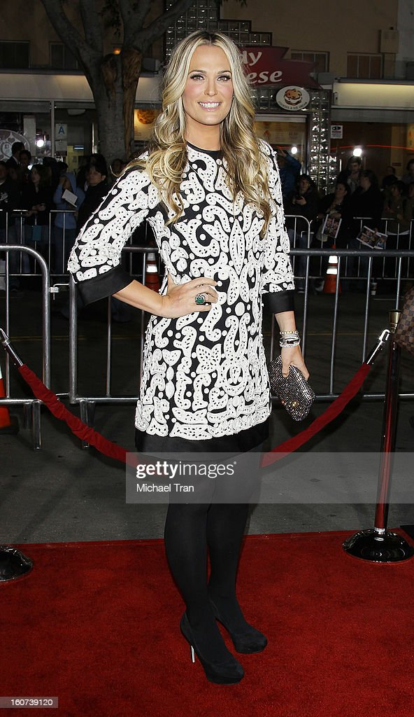 Molly Sims arrives at the Los Angeles premiere of 'Identity Thief' held at Mann Village Theatre on February 4, 2013 in Westwood, California.