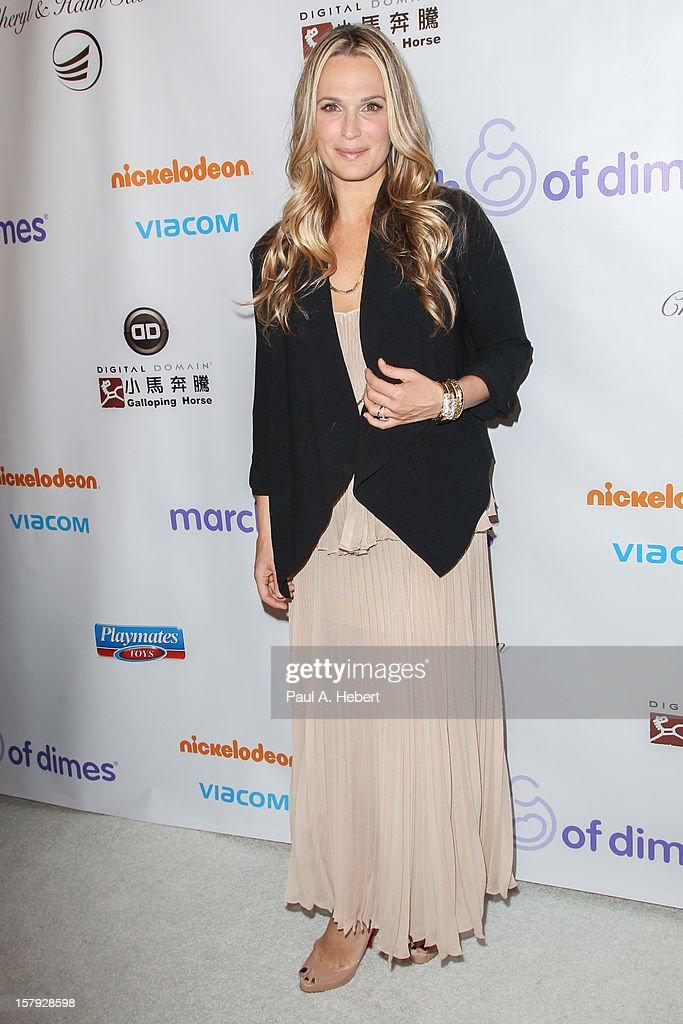 Molly Sims arrives at the March Of Dimes' Celebration Of Babies held at the Beverly Hills Hotel on December 7, 2012 in Beverly Hills, California.