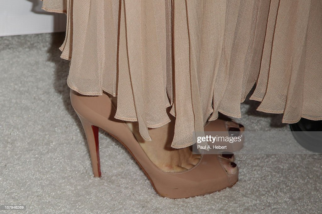 Molly Sims (shoe detail) arrives at the March Of Dimes' Celebration Of Babies held at the Beverly Hills Hotel on December 7, 2012 in Beverly Hills, California.