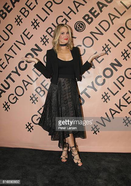 Molly Sims attends the 2nd Annual Beautycon Festival at Centennial Hall Fairpark on March 19 2016 in Dallas Texas