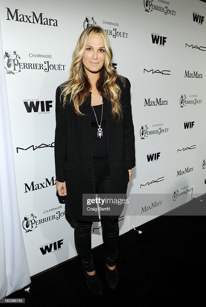 Molly Sims attends the 6th Annual Women In Film Pre-Oscar Party hosted by Perrier Jouet, MAC Cosmetics and MaxMara at Fig & Olive on February 22, 2013 in Los Angeles, California.