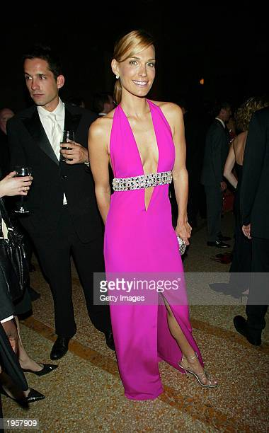 Molly Sims attends the Costume Institute Benefit Gala sponsored by Gucci April 28 2003 at The Metropolitan Museum of Art in New York City
