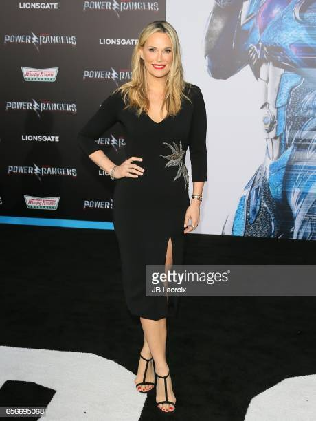 Molly Sims attends the premiere of Lionsgate's 'Power Rangers' on March 22 2017 in Westwood California