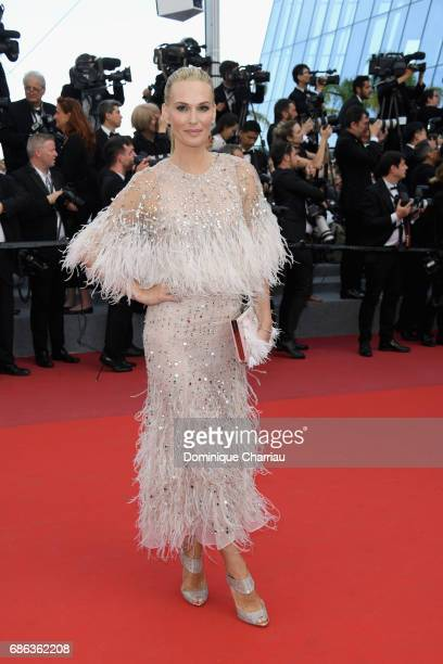 Molly Sims attends the 'The Meyerowitz Stories' screening during the 70th annual Cannes Film Festival at Palais des Festivals on May 21 2017 in...