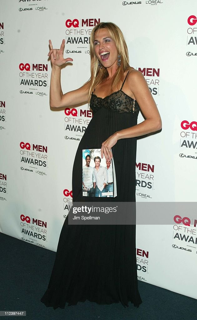 Molly Sims during 2002 GQ Men of the Year Awards - Press Room at Hammerstein Ballroom in New York City, New York, United States.