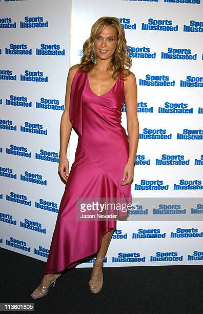 Molly Sims during 2003 Sports Illustrated Swimsuit Issue Press Conference at Gotham Hall in New York City New York United States