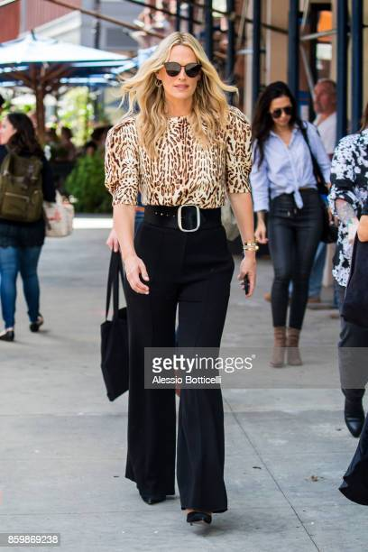 Molly Sims is seen leaving AOL BUILD on October 10 2017 in New York City