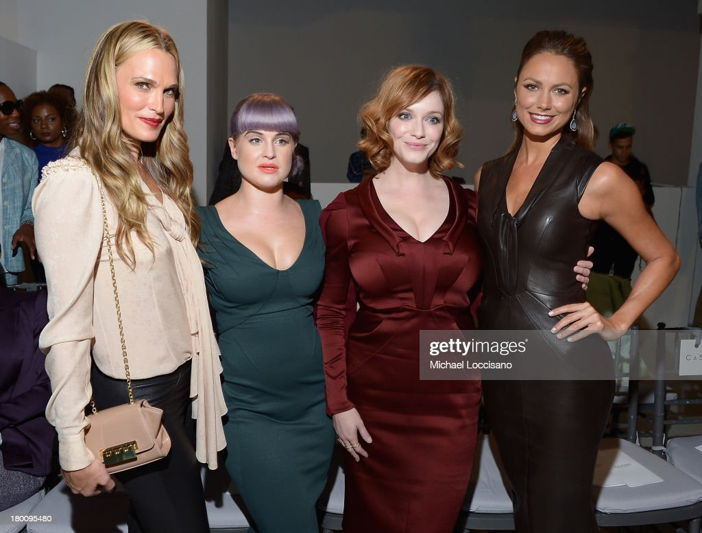 Molly Sims, Kelly Osbourne, Christina Hendricks and Stacy Keibler attends the Zac Posen fashion show during Mercedes-Benz Fashion Week Spring 2014 at Center 548 on September 8, 2013 in New York City.