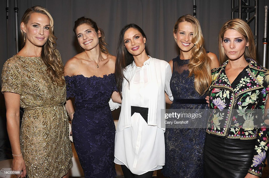<a gi-track='captionPersonalityLinkClicked' href=/galleries/search?phrase=Molly+Sims&family=editorial&specificpeople=202547 ng-click='$event.stopPropagation()'>Molly Sims</a>, <a gi-track='captionPersonalityLinkClicked' href=/galleries/search?phrase=Lake+Bell&family=editorial&specificpeople=209336 ng-click='$event.stopPropagation()'>Lake Bell</a>, Georgina Chapman, <a gi-track='captionPersonalityLinkClicked' href=/galleries/search?phrase=Petra+Nemcova&family=editorial&specificpeople=201716 ng-click='$event.stopPropagation()'>Petra Nemcova</a> and <a gi-track='captionPersonalityLinkClicked' href=/galleries/search?phrase=Ashley+Greene&family=editorial&specificpeople=781552 ng-click='$event.stopPropagation()'>Ashley Greene</a> attend the Marchesa show during Spring 2014 Mercedes-Benz Fashion Week at New York Public Library on September 11, 2013 in New York City.
