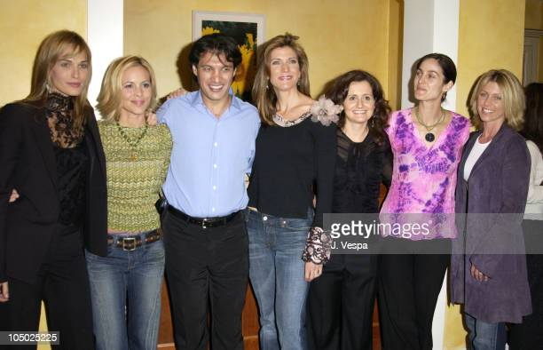 Molly Sims Maria Bello Frederic Fekkai Julie Moran Brenda Battista CarrieAnne Moss and Helen Kinnear