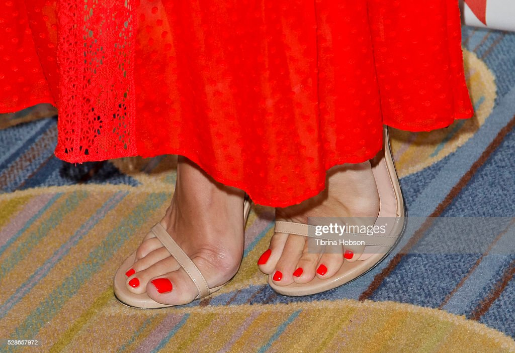 Molly Sims, shoe detail, attends The Helping Hand of Los Angeles' 87th Anniversary Mother's Day Luncheon and Fashion Show at the Beverly Wilshire Four Seasons Hotel on May 6, 2016 in Beverly Hills, California.