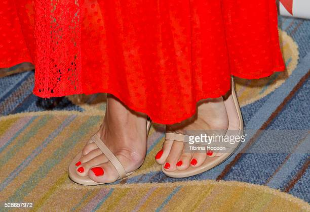 Molly Sims shoe detail attends The Helping Hand of Los Angeles' 87th Anniversary Mother's Day Luncheon and Fashion Show at the Beverly Wilshire Four...