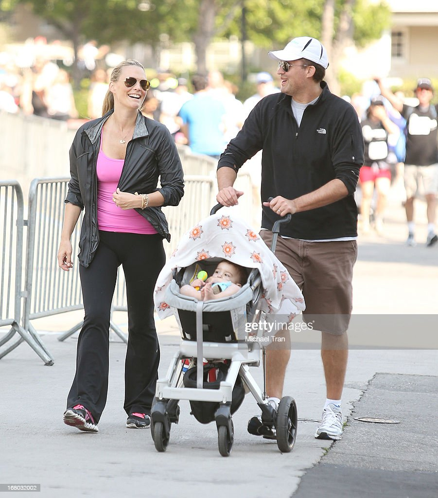Molly Sims with her husband Scott Stuber and their son Brooks Alan Stuber attend the 2nd Annual Miles for Melanoma 5K Run/Walk held at Universal...