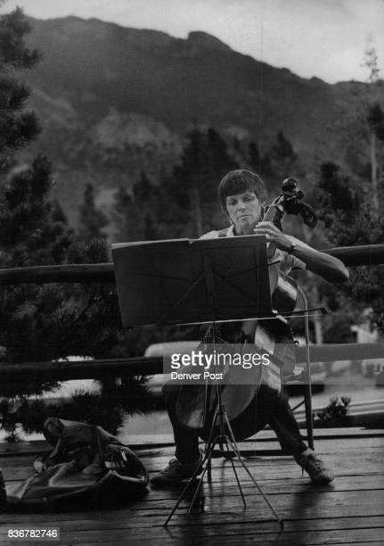 Molly Singer Golden plays the cello at the music center's gathering south of Estes Park Fortyfour musicians attended camp Credit Denver Post