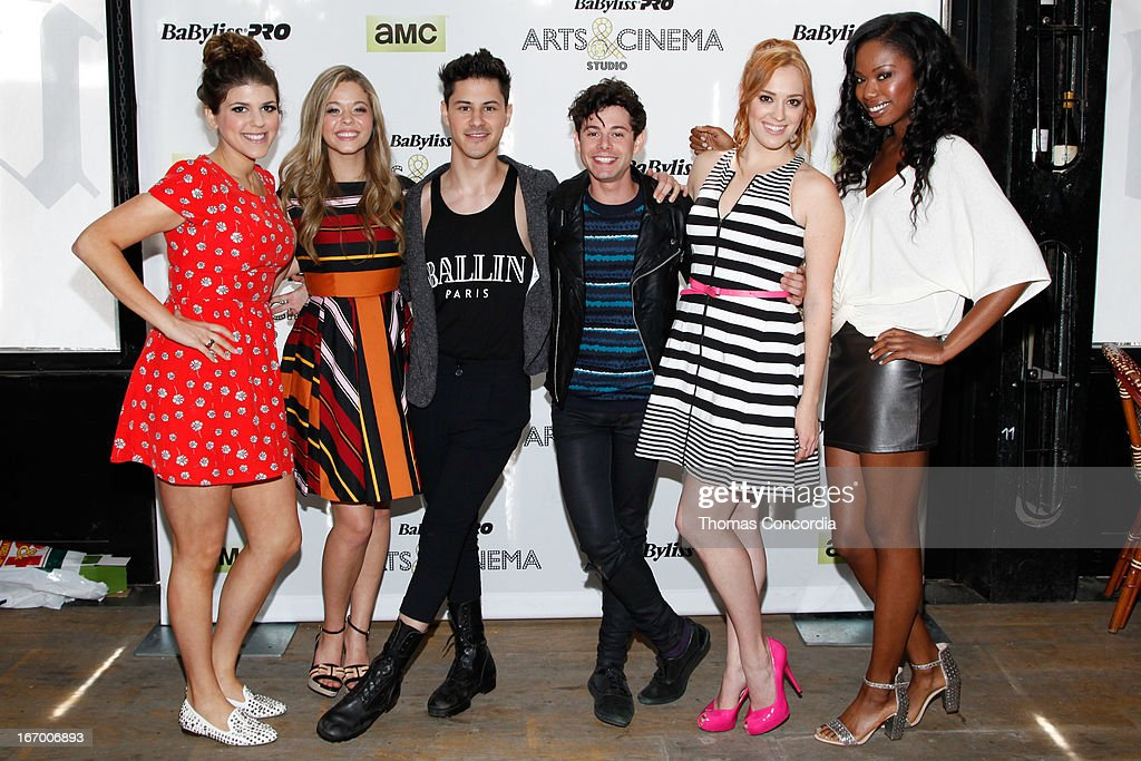 Molly Tarlov, Sasah Pieterse, Michael J. Willett, <a gi-track='captionPersonalityLinkClicked' href=/galleries/search?phrase=Paul+Iacono&family=editorial&specificpeople=5588186 ng-click='$event.stopPropagation()'>Paul Iacono</a>, <a gi-track='captionPersonalityLinkClicked' href=/galleries/search?phrase=Andrea+Bowen&family=editorial&specificpeople=212969 ng-click='$event.stopPropagation()'>Andrea Bowen</a>, and Xosha Roquemore attend BaByliss PRO Arts & Cinema Studio Press-Day on April 19, 2013 in New York City.