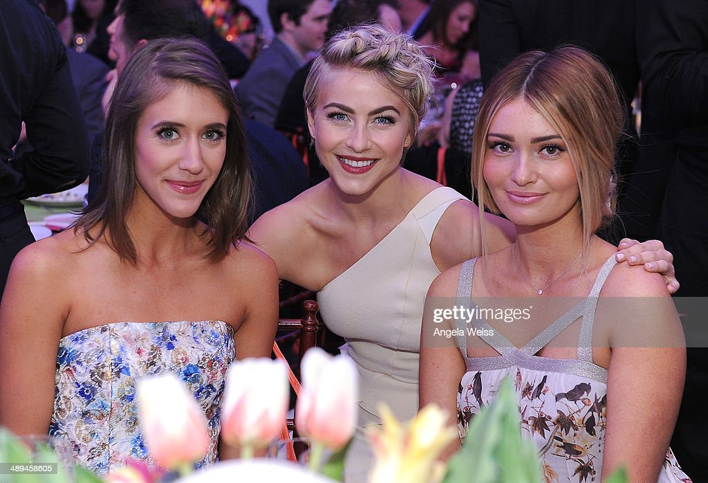 Molly Thompson, actress Julianne Hough, Lauren Parsekian-Paul attend the 'Open Hearts Foundation Gala' on May 10, 2014 in Malibu, California.
