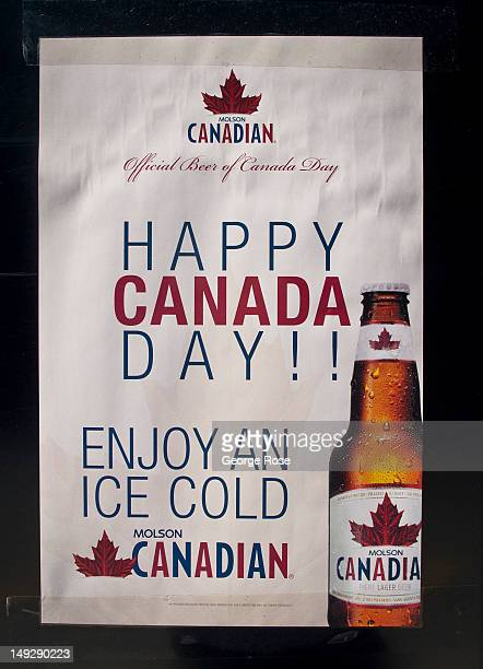 Molson beer promotional billboard is viewed at the ByWard Market on June 30 2012 in Ottawa Canada Ottawa the captial of Canada is the fourth largest...