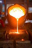Splashing of iron water