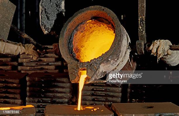 Molten metal in a foundry India