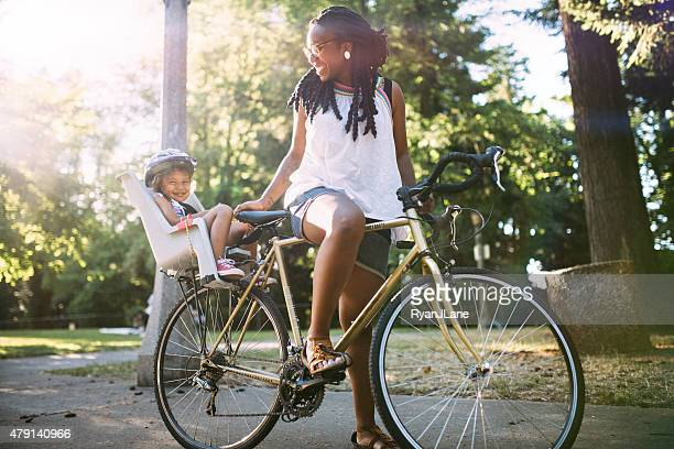 Mom and Daughter Enjoy a Bike Ride