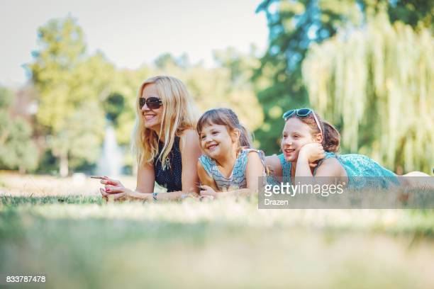 Mom enjoys day off with her daughters