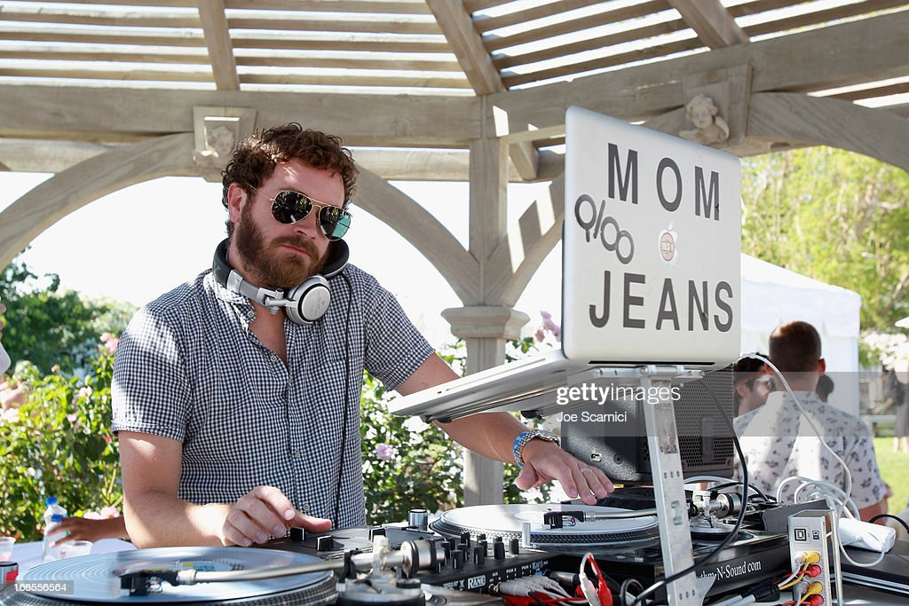 DJ Mom Jeans aka <a gi-track='captionPersonalityLinkClicked' href=/galleries/search?phrase=Danny+Masterson&family=editorial&specificpeople=239512 ng-click='$event.stopPropagation()'>Danny Masterson</a> performs at LACOSTE L!VE 4th Annual Desert Pool Party on April 13, 2013 in Thermal, California.