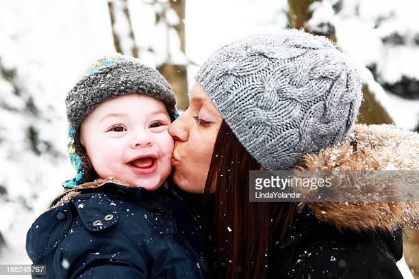 Mom Kissing Baby Son