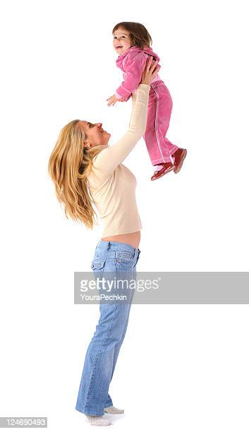Mom playing with daughter