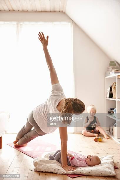 Mutter Sie mögen yoga