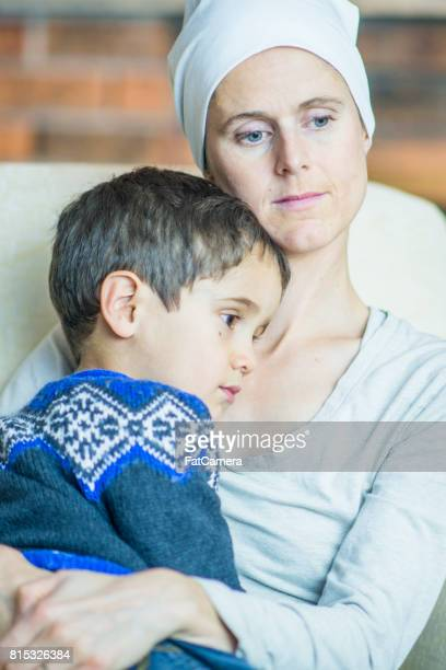 Mom With Cancer Holding Son