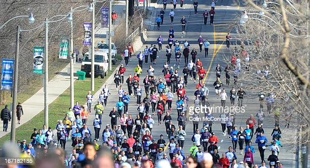 A moment of silence for Boston marathon victims was held prior to the start of the annual Toronto Yonge Street 10k today April 21st 2013 The race...