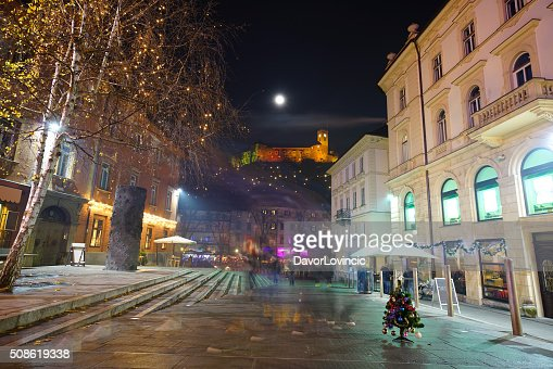 Moment to remember at Ljubljana Christmas time : Stock Photo