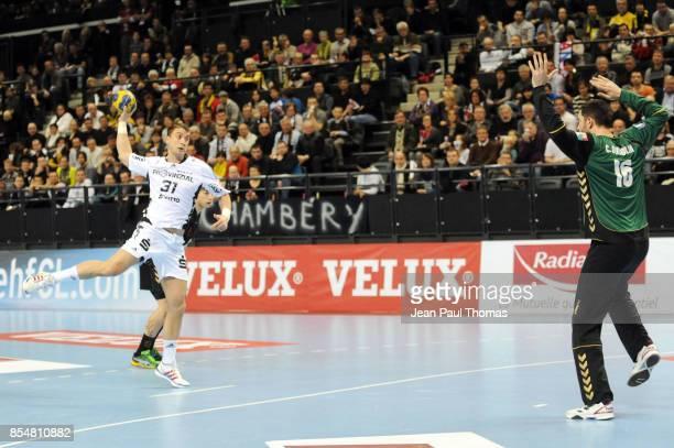 Momir ILIC / Cyril DUMOULIN Chambery / Kiel Handball Ligue des Champions
