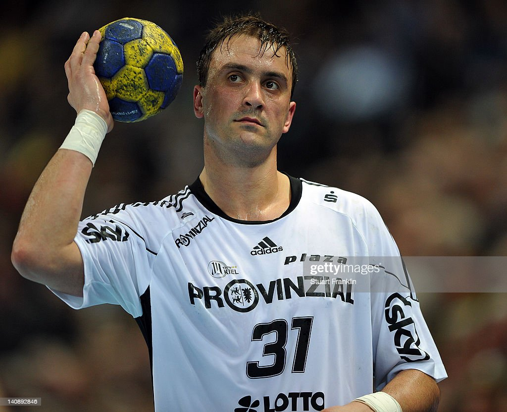 Momir Ilic of Kiel in action during the Toyota Bundesliga match between THW Kiel and HBW Balingen-Weilstetten at the Sparkassen Arena on March 7, 2012 in Kiel, Germany.