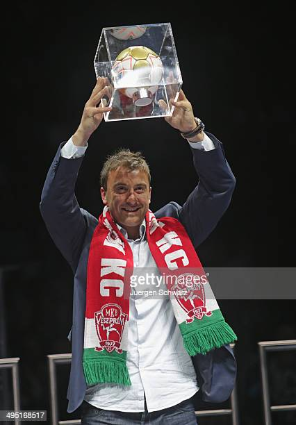 Momir Ilic of Veszprem was honoured top scorer of the season after the EHF Champions League Final at Lanxess Arena on June 1 2014 in Cologne Germany