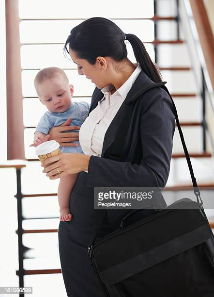 Mommy's off to the office