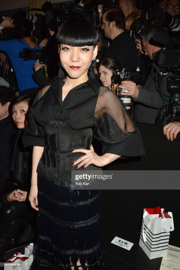 Momo Wu attends the Jean Paul Gaultier Fall/Winter 2013 Ready-to-Wear show as part of Paris Fashion Week on March 2, 2013 in Paris, France.