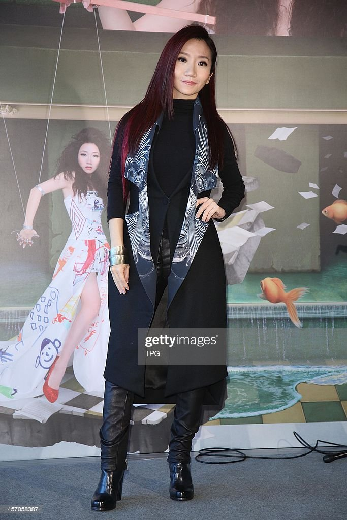 Momoco Tao promotes her new album on Sunday December 15,2013 in Taipei,China.